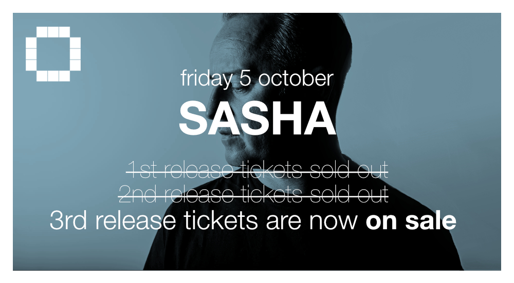 Ticket flyer for Sasha at Culture Box